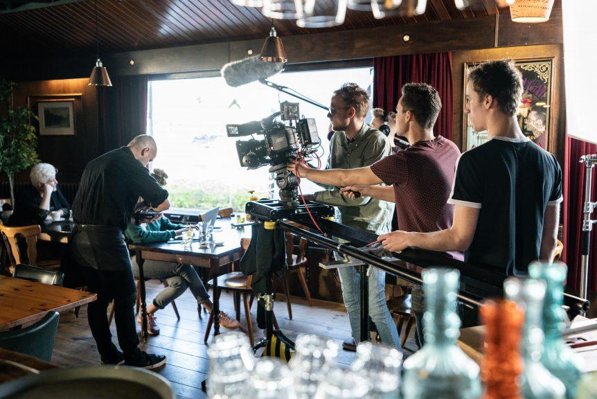 Opnames korte film in café De Pelikaan